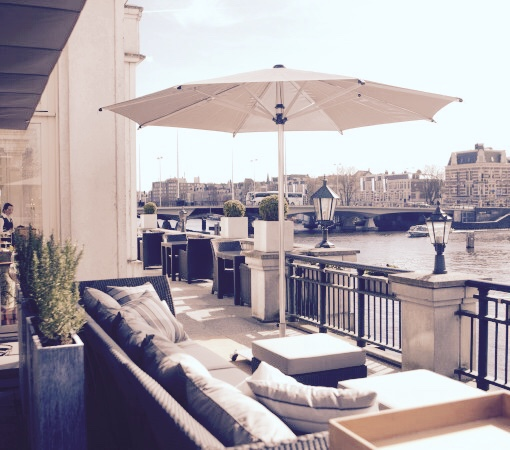 A Bar Amstel Hotel Catch52 La Rive terras