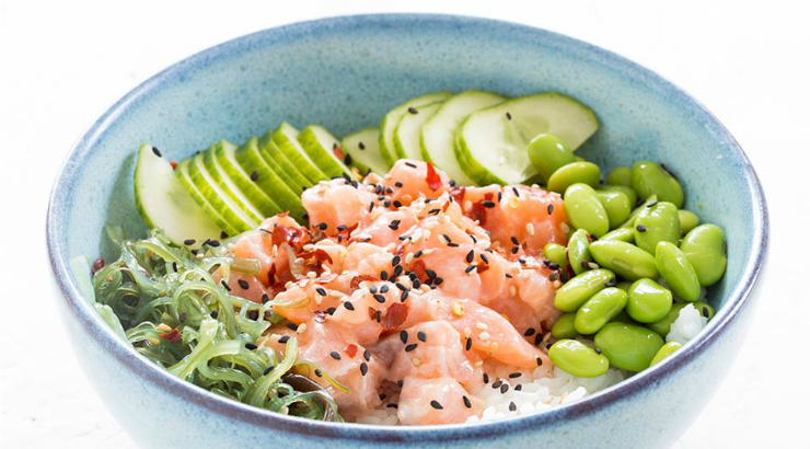 Poke Perfect sushi in a bowl Amsterdam