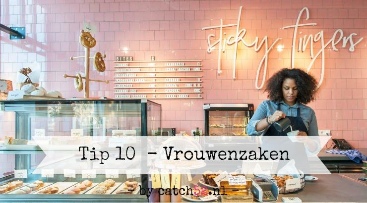 Tip 10 vrouwenzaken Sticky Fingers patisserie AMsterdam