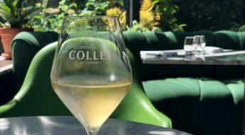 Champagne bij Bistro Oriole in hotel Sofitel The Grand